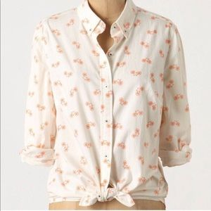 Anthropologie Button Down Shirt Bicycle 4